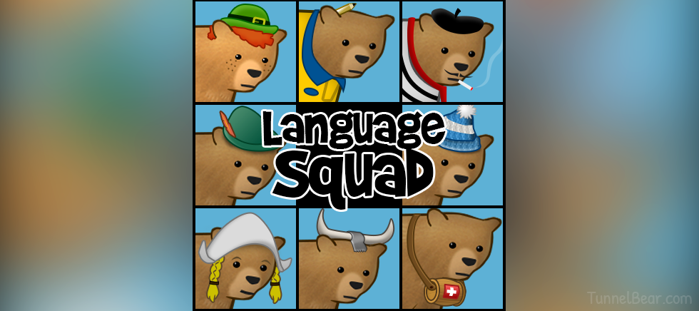 The TunnelBears Now Speak 16 Languages
