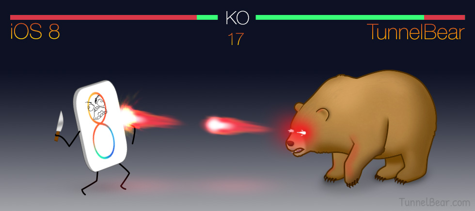 TunnelBear and iOS 8: Almost Friends