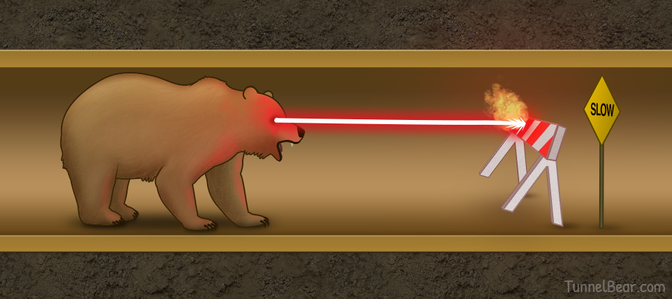TunnelBear Hearts Fast Internet For All