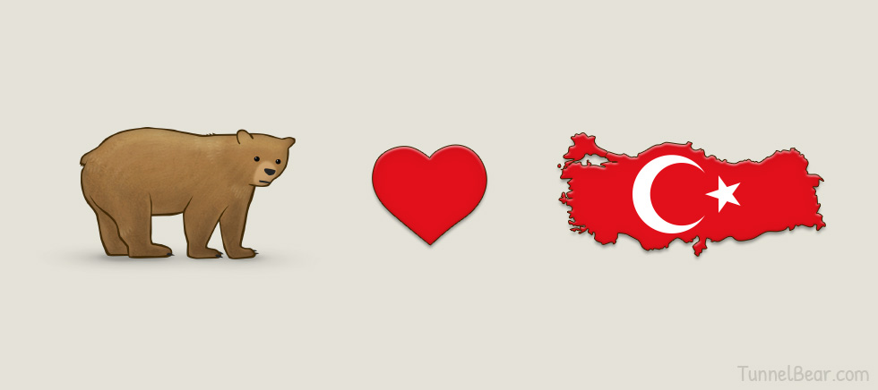 TunnelBear Hearts Turkey (In Turkish)